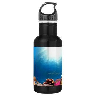 珊瑚礁及び鮫 ウォーターボトル