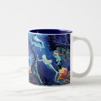 珊瑚礁-人魚のマグの秘密 ツートーンマグカップ
