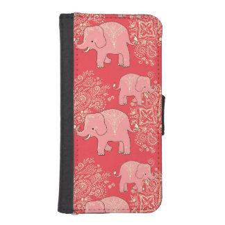 珊瑚象のiPhoneのウォレットケース iPhoneSE/5/5sウォレットケース