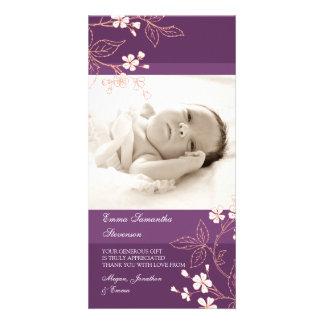 珊瑚 プラム 感謝していして下さい 赤ん坊 シャワー 写真 カード