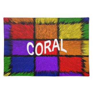 珊瑚 ランチョンマット
