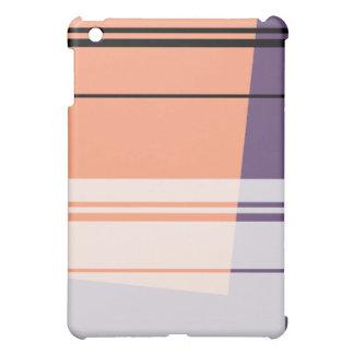 珊瑚、石板の青、白い煙のレトロのipadの場合 iPad miniケース