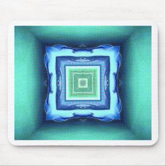 珍しくモダンで青いSeagreen幾何学的なパターン マウスパッド