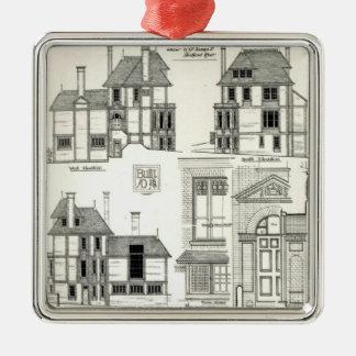 珠玉の住宅Sunnycote、Hampstead、 シルバーカラー正方形オーナメント