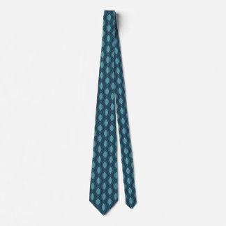 珪藻植物のOgeeパターン青い首のタイ ネクタイ