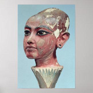 現れている子供王のTutankhamun頭部 ポスター
