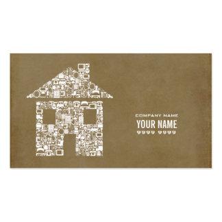 現代的 建築者 建築 テンプレート ビジネス カード