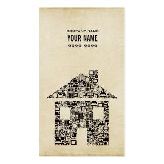 現代的 建築者 建築 テンプレート ビジネス カード 名刺テンプレート