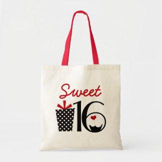 現在のかわいい菓子16のカップケーキおよび水玉模様 トートバッグ