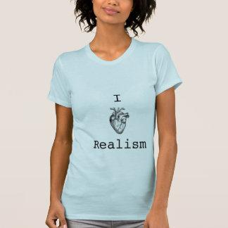 現実主義の淡いブルーの女性のTシャツ Tシャツ