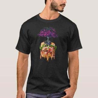 現実対ハンバーガー Tシャツ