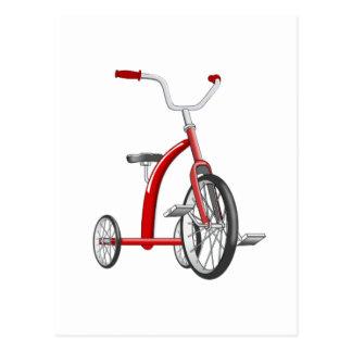 現実的で赤い三輪車 ポストカード