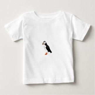 現実的なツノメドリの鳥 ベビーTシャツ