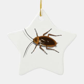 現実的なブラウンのゴキブリの昆虫 セラミックオーナメント