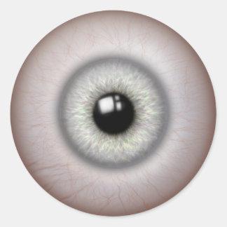 現実的な見る眼球のステッカー ラウンドシール