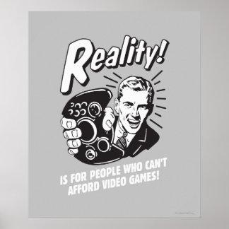 現実: ビデオゲームをできることができません ポスター