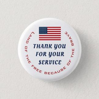 現役の任務か退職したな退役軍人の軍隊は感謝していしています 3.2CM 丸型バッジ