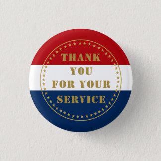 現役の任務の退役軍人の憲兵は感謝していしています発射します 3.2CM 丸型バッジ