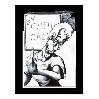 現金だけ ポストカード