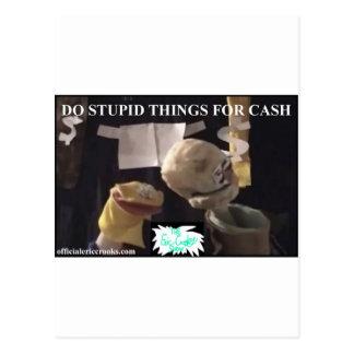 現金のための愚かな事をして下さい ポストカード