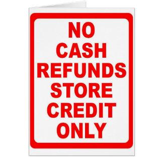 現金の払い戻しの店の信用印無し カード