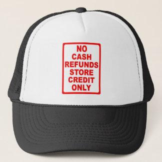 現金の払い戻しの店の信用印無し キャップ