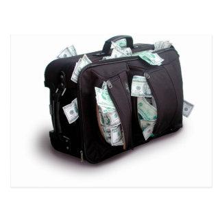 現金スーツケース ポストカード