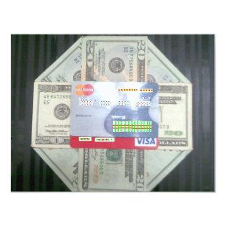 現金及び信用 10.8 X 14 インビテーションカード