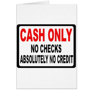 現金点検の印無し カード