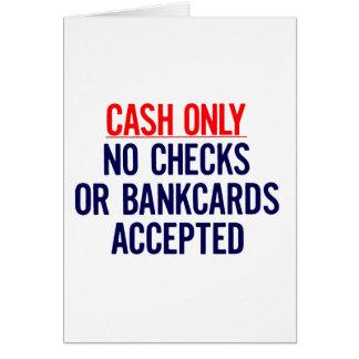 現金銀行印無し カード