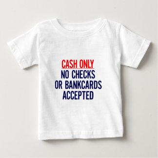 現金銀行印無し ベビーTシャツ