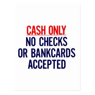 現金銀行印無し ポストカード