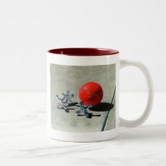 球およびジャッキのマグ ツートーンマグカップ