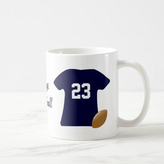 球が付いているあなたのフットボールのワイシャツ コーヒーマグカップ