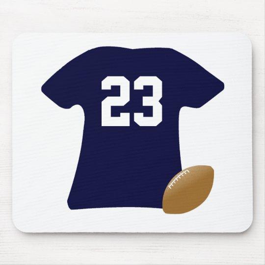 球が付いているあなたのフットボールのワイシャツ マウスパッド