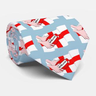 球が付いているイギリスのラグビーのチームサポータ旗 カスタムネクタイ