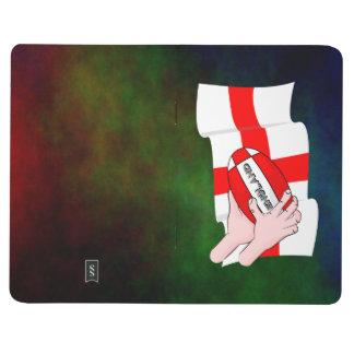 球が付いているイギリスのラグビーのチームサポータ旗 ポケットジャーナル