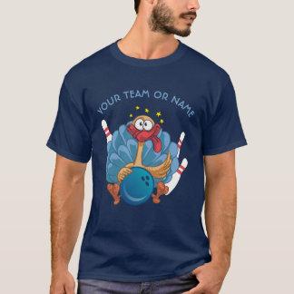 球が付いているボーリングをする野生の示されるトルコおよびピン Tシャツ