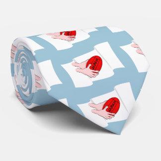 球が付いている日本ラグビーのチームサポータ旗 オリジナルネクタイ