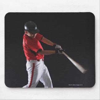 球に当る約野球選手 マウスパッド