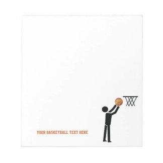 球のカスタムのバスケットボール選手 ノートパッド