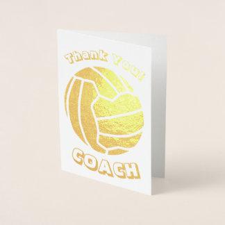 球のテーマのネットボールのコーチは金ゴールド感謝していしています 箔カード