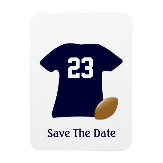 球の保存のあなたのフットボールのワイシャツ日付の磁石 長方形マグネット
