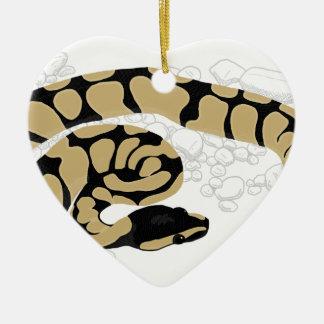 球の大蛇のヘビ セラミックオーナメント