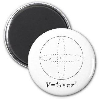 球の容積 マグネット