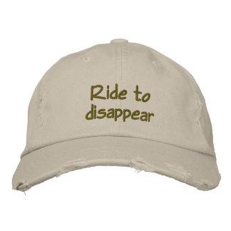 球の消えるために帽子乗って下さい 刺繍入りキャップ
