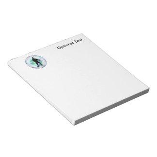 球の球のサッカーと提起しているサッカーの選手 ノートパッド