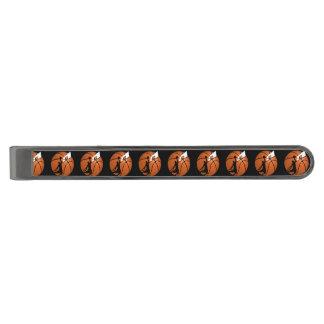 球の確実のバスケットボール選手w/Hoop ガンメタル ネクタイピン
