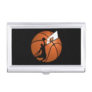 球の確実のバスケットボール選手w/Hoop 名刺入れ