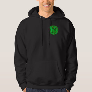 球体の緑の円形のスエットシャツのポケット及び背部 パーカ